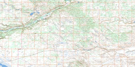 Brownfield Topo Map 073D06 at 1:50,000 scale - National Topographic System of Canada (NTS) - Toporama map
