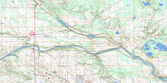 Elk Point Topo Map 073E15 at 1:50,000 scale - National Topographic System of Canada (NTS) - Toporama map