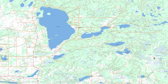 Frog Lake Topo Map 073E16 at 1:50,000 scale - National Topographic System of Canada (NTS) - Toporama map