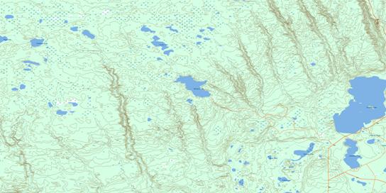 Flotten Lake Topo Map 073K10 at 1:50,000 scale - National Topographic System of Canada (NTS) - Toporama map