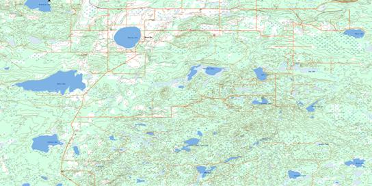 Reita Lake Topo Map 073L01 at 1:50,000 scale - National Topographic System of Canada (NTS) - Toporama map