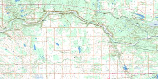 Goodridge Topo Map 073L06 at 1:50,000 scale - National Topographic System of Canada (NTS) - Toporama map