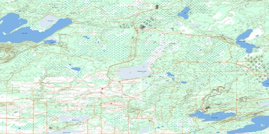 Marguerite Lake Topo Map 073L10 at 1:50,000 scale - National Topographic System of Canada (NTS) - Toporama map