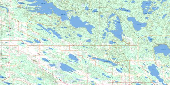 Beaver Lake Topo Map 073L12 at 1:50,000 scale - National Topographic System of Canada (NTS) - Toporama map