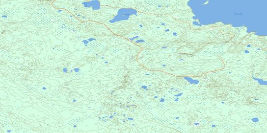 Kirby Lake Topo Map 073M07 at 1:50,000 scale - National Topographic System of Canada (NTS) - Toporama map