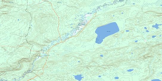 Bohn Lake Topographic map 073M15 at 1:50,000 Scale
