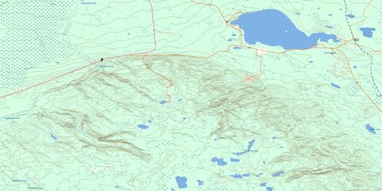 Gregoire Lake Topo Map 074D06 at 1:50,000 scale - National Topographic System of Canada (NTS) - Toporama map
