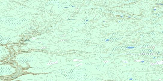High Hill River Topo Map 074D16 at 1:50,000 scale - National Topographic System of Canada (NTS) - Toporama map