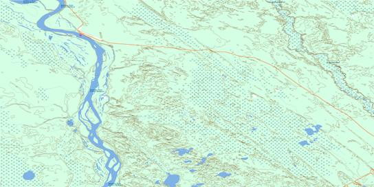 Embarras Topo Map 074L03 at 1:50,000 scale - National Topographic System of Canada (NTS) - Toporama map