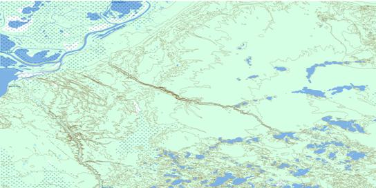Keane Creek Topo Map 074L07 at 1:50,000 scale - National Topographic System of Canada (NTS) - Toporama map