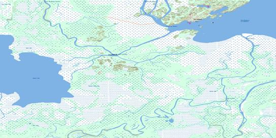 Fort Chipewyan Topo Map 074L11 at 1:50,000 scale - National Topographic System of Canada (NTS) - Toporama map