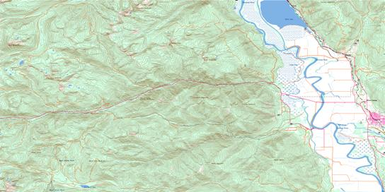 Creston Topo Map 082F02 at 1:50,000 scale - National Topographic System of Canada (NTS) - Toporama map