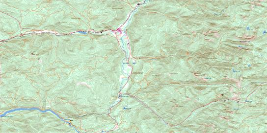 Salmo Topographic map 082F03 at 1:50,000 Scale