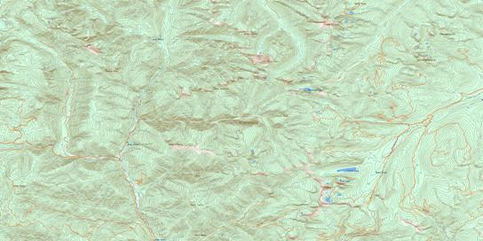 Grassy Mountain Topo Map 082F08 at 1:50,000 scale - National Topographic System of Canada (NTS) - Toporama map