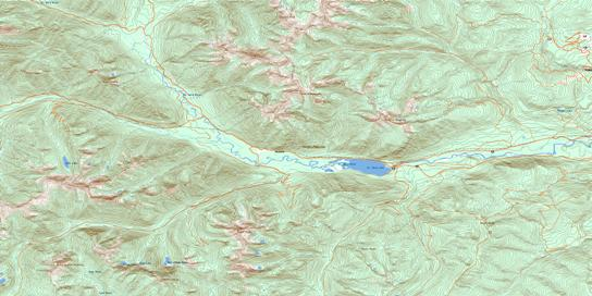 St Mary Lake Topo Map 082F09 at 1:50,000 scale - National Topographic System of Canada (NTS) - Toporama map