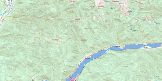 Kokanee Peak Topographic map 082F11 at 1:50,000 Scale