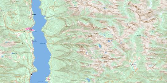 Kaslo Topo Map 082F15 at 1:50,000 scale - National Topographic System of Canada (NTS) - Toporama map