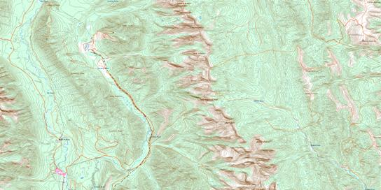Fording River Topo Map 082J02 at 1:50,000 scale - National Topographic System of Canada (NTS) - Toporama map