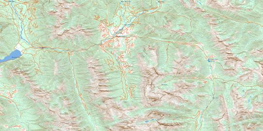 Mount Peck Topo Map 082J03 at 1:50,000 scale - National Topographic System of Canada (NTS) - Toporama map