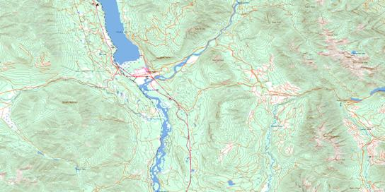 Canal Flats Topo Map 082J04 at 1:50,000 scale - National Topographic System of Canada (NTS) - Toporama map