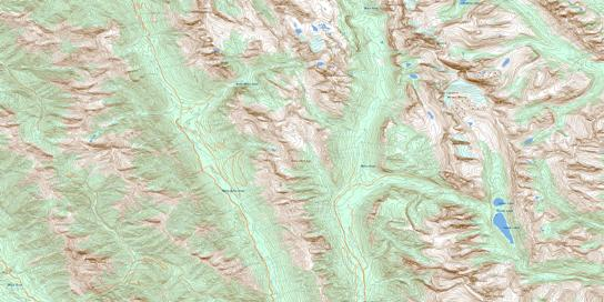 Mount Abruzzi Topo Map 082J06 at 1:50,000 scale - National Topographic System of Canada (NTS) - Toporama map