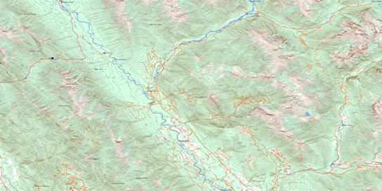 Tangle Peak Topo Map 082J12 at 1:50,000 scale - National Topographic System of Canada (NTS) - Toporama map