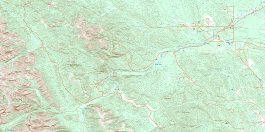 Bragg Creek Topo Map 082J15 at 1:50,000 scale - National Topographic System of Canada (NTS) - Toporama map