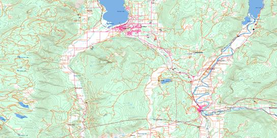 Salmon Arm Topo Map 082L11 at 1:50,000 scale - National Topographic System of Canada (NTS) - Toporama map