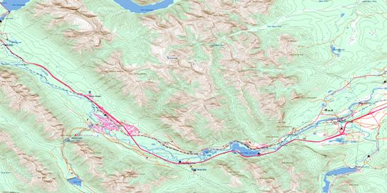 Canmore Topo Map 082O03 at 1:50,000 scale - National Topographic System of Canada (NTS) - Toporama map