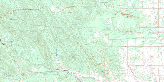 Wildcat Hills Topo Map 082O07 at 1:50,000 scale - National Topographic System of Canada (NTS) - Toporama map