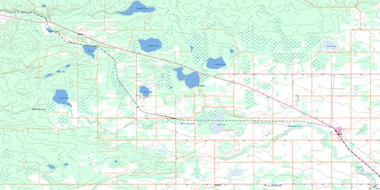 Hythe Topo Map 083M05 at 1:50,000 scale - National Topographic System of Canada (NTS) - Toporama map
