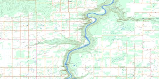 Smoky Heights Topo Map 083M08 at 1:50,000 scale - National Topographic System of Canada (NTS) - Toporama map