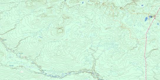 Goffit Creek Topo Map 084F05 at 1:50,000 scale - National Topographic System of Canada (NTS) - Toporama map