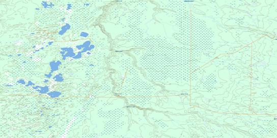 Buhler Creek Topo Map 084F07 at 1:50,000 scale - National Topographic System of Canada (NTS) - Toporama map