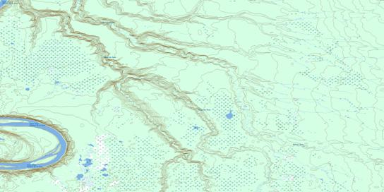 Wolverine River Topo Map 084F10 at 1:50,000 scale - National Topographic System of Canada (NTS) - Toporama map