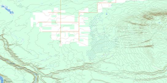 Steephill Creek Topo Map 084F15 at 1:50,000 scale - National Topographic System of Canada (NTS) - Toporama map
