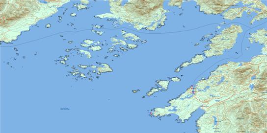 Barkley Sound Topographic map 092C14 at 1:50,000 Scale