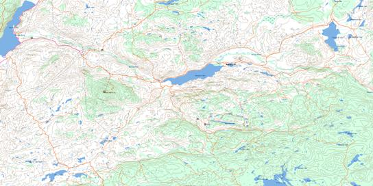 Douglas Lake Topo Map 092I01 at 1:50,000 scale - National Topographic System of Canada (NTS) - Toporama map