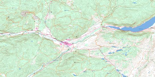 Merritt Topo Map 092I02 at 1:50,000 scale - National Topographic System of Canada (NTS) - Toporama map