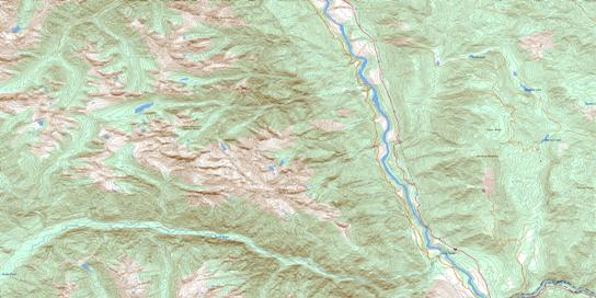 Stein River Topo Map 092I05 at 1:50,000 scale - National Topographic System of Canada (NTS) - Toporama map