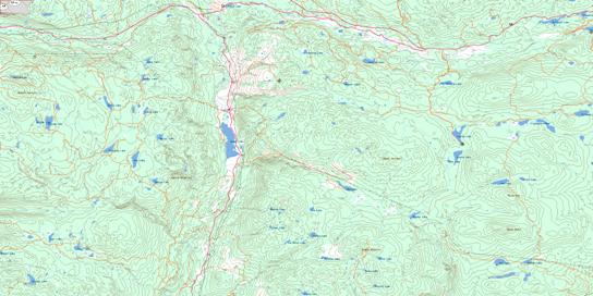 Mamit Lake Topo Map 092I07 at 1:50,000 scale - National Topographic System of Canada (NTS) - Toporama map