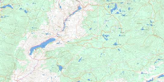 Stump Lake Topo Map 092I08 at 1:50,000 scale - National Topographic System of Canada (NTS) - Toporama map