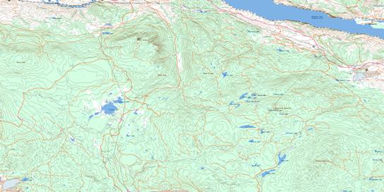 Cherry Creek Topo Map 092I10 at 1:50,000 scale - National Topographic System of Canada (NTS) - Toporama map