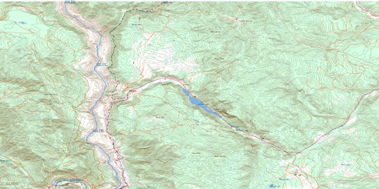 Pavilion Topo Map 092I13 at 1:50,000 scale - National Topographic System of Canada (NTS) - Toporama map