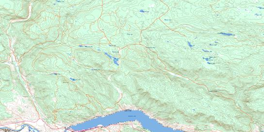Tranquille River Topo Map 092I15 at 1:50,000 scale - National Topographic System of Canada (NTS) - Toporama map