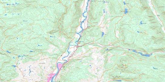 Heffley Creek Topo Map 092I16 at 1:50,000 scale - National Topographic System of Canada (NTS) - Toporama map