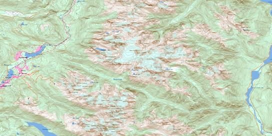 Whistler Topo Map 092J02 at 1:50,000 scale - National Topographic System of Canada (NTS) - Toporama map