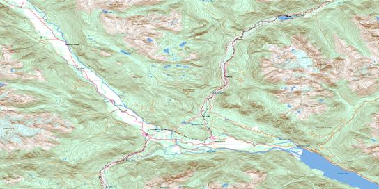 Pemberton Topo Map 092J07 at 1:50,000 scale - National Topographic System of Canada (NTS) - Toporama map