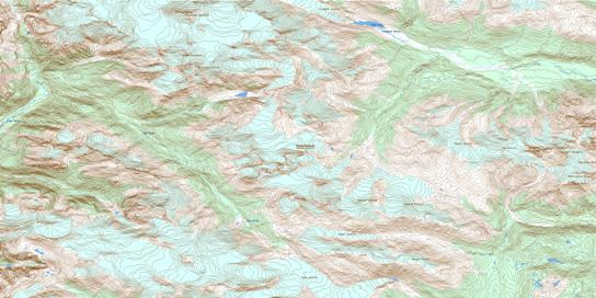 Mount Dalgleish Topo Map 092J12 at 1:50,000 scale - National Topographic System of Canada (NTS) - Toporama map