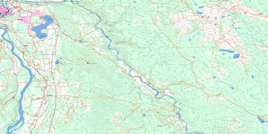Quesnel River Bc Free Topo Map Online 093b16 At 1 50 000